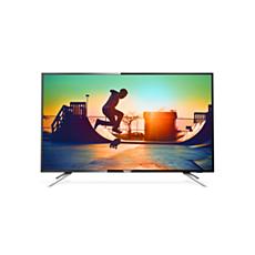 55PUT6102/56 -    دقة 4K، شاشة رفيعة جدًا، Smart LED TV