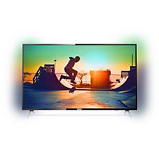 55PUT6233/56  دقة 4K، شاشة رفيعة جدًا، Smart LED TV