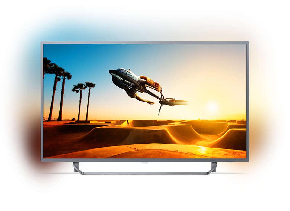 تلفزيون LED رفيع جدًا بنظام Android ودقة 4K UHD
