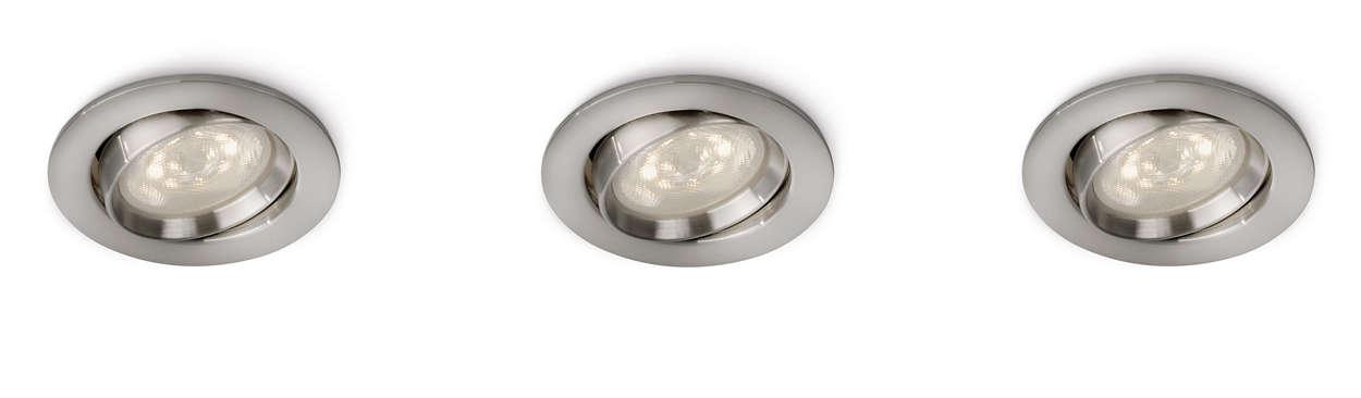 Setzen Sie in Ihrem Zuhause Akzente mit Licht