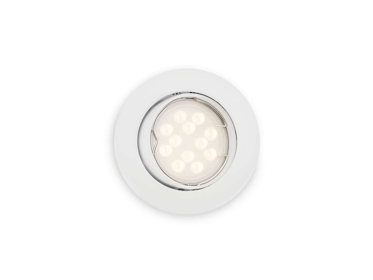Spot encastrer 592703116 philips for Spot de cuisine encastrable