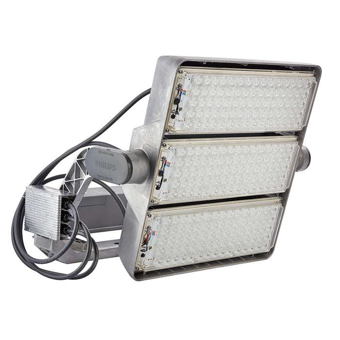 OptiVision LED gen2 – une nouvelle ère dans le domaine de l'éclairage intelligent des grands espaces et des terrains de sports