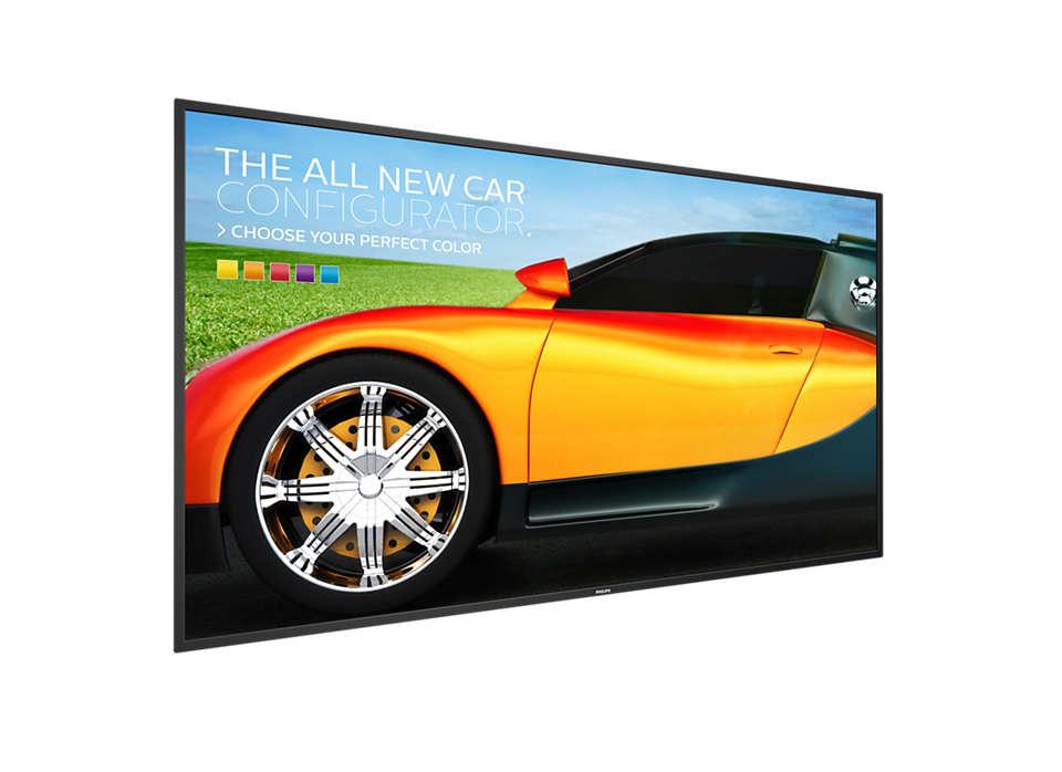 Sustiprinkite vaizdo perteikimą ekrane