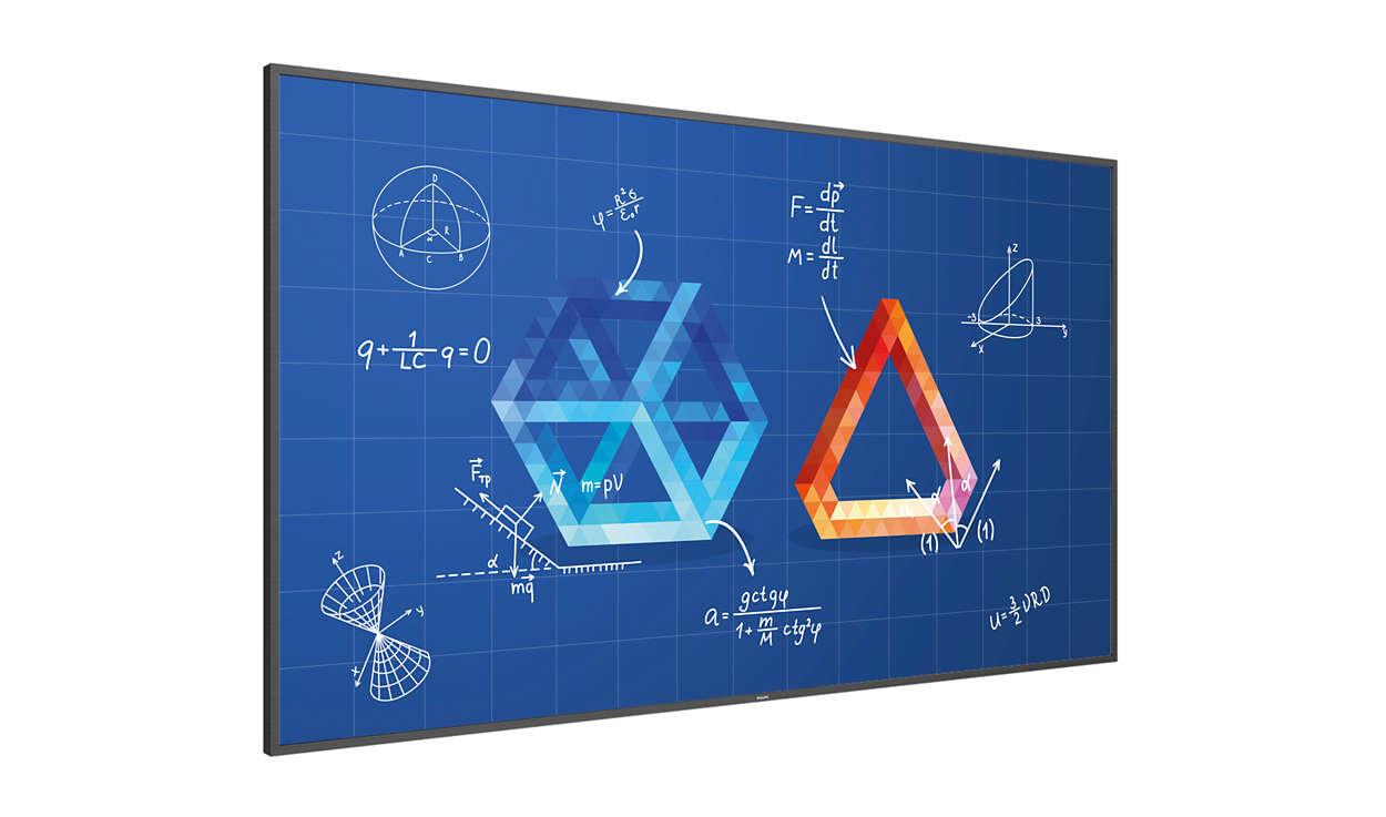 شاشة تفاعلية في قاعة الدروس