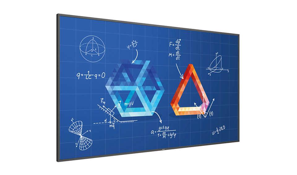 Interaktiv skærm til undervisningslokaler