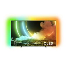 65OLED706/12 OLED טלוויזיה Android עם צג 4K UHD E-OLED