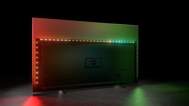 Philips TV 2021: OLED706 Rückseite mit Ambilight