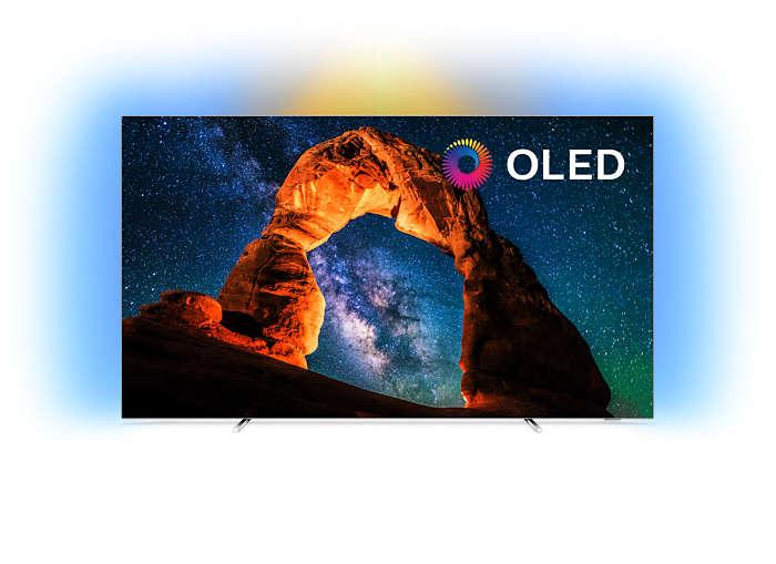 "Labai plonas 4K UHD OLED ""Android"" televizorius"
