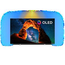 65OLED803/12  Rakbladstunn OLED-TV med 4K UHD och Android