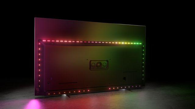 Philips TV 2021: OLED806 Rückseite mit Ambilight