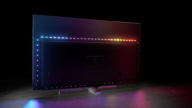 Philips TV 2021: OLED856 und OLED876 Rückseite mit Ambilight