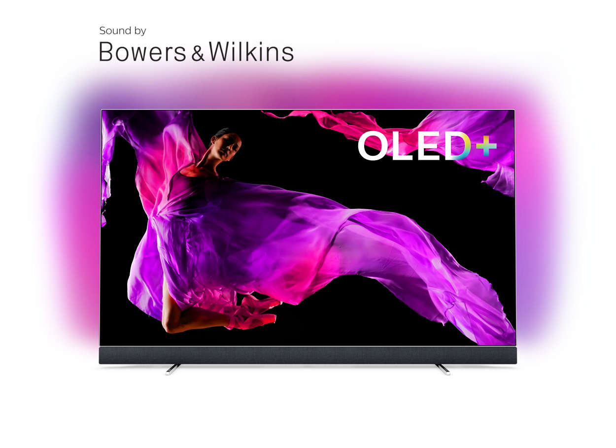 OLED+ 4K TV skaņa, pateicoties Bowers & Wilkins