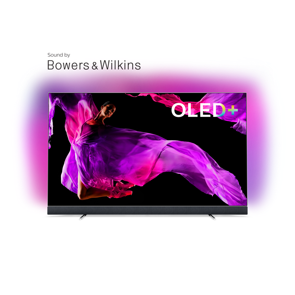 OLED 9 series OLED+ 4K TV-lyd fra Bowers & Wilkins