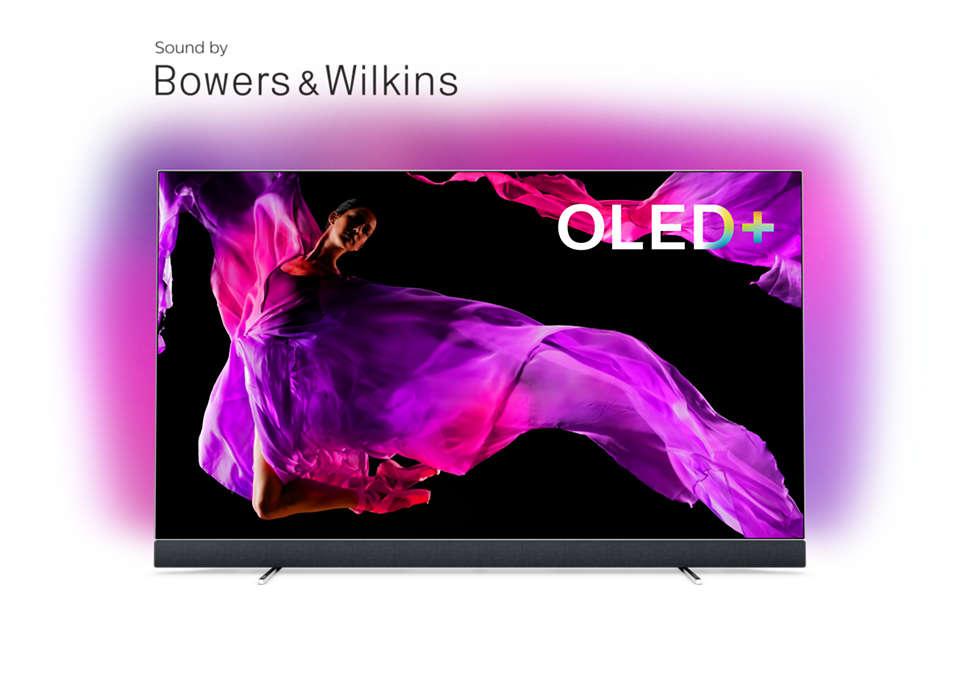 Televisor OLED+ 4K com som da Bowers & Wilkins