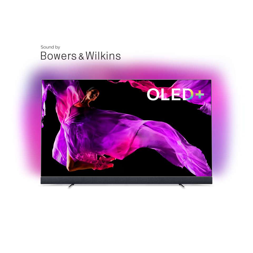OLED 9 series Televisor OLED+ 4K com som da Bowers & Wilkins