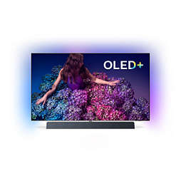 Philips OLED 9 series 4K (UHD) OLED+ | Android TV | B&W sound 65OLED934 Sound by Bowers & Wilkins Ambilight 3-sided P5 Pro Perfect Picture Engine Android TV / AI voice control with Ambilight 3-sided