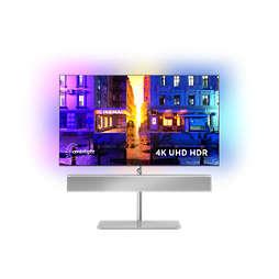 "OLED+ 4K UHD ""Android"" televiz. – ""Bowers&Wilkins"" garsas"
