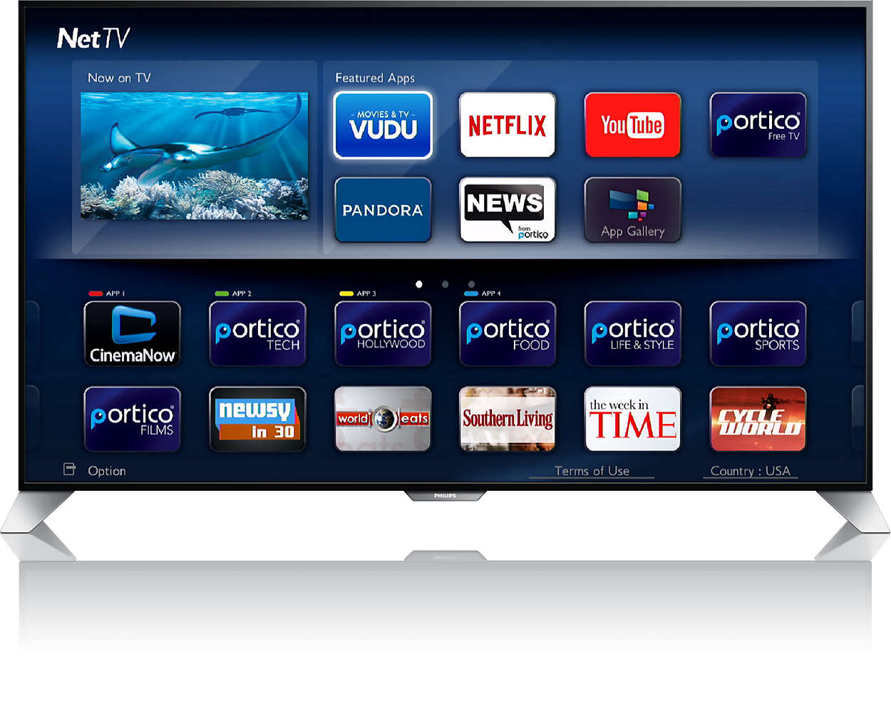 philips smart tv how to download apps