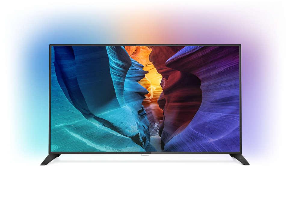 Tenký LED televizor Full HD se systémem Android