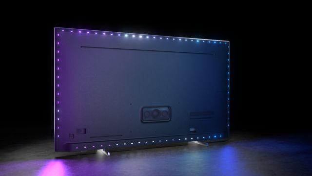Philips TV 2021: PML9506 Rückseite mit Ambilight