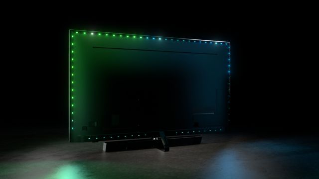 Philips TV 2021: PML9636 Rückseite mit Ambilight