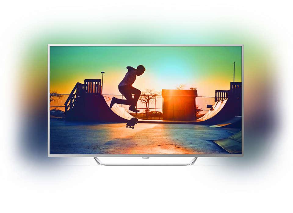 TV LED ultrafina 4K