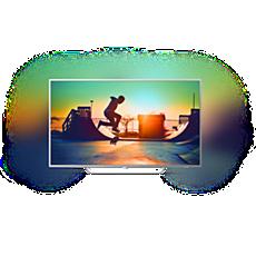 65PUS6412/12  Ultratenký televizor srozlišením 4K sAndroid TV