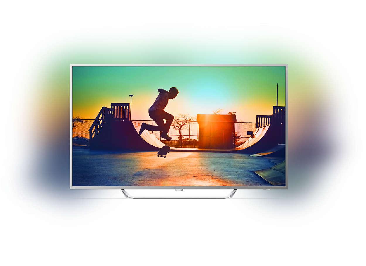 t l viseur ultra plat 4k avec android tv 65pus6412 12. Black Bedroom Furniture Sets. Home Design Ideas
