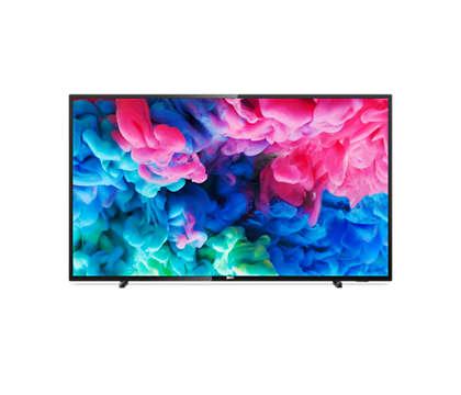 Téléviseur SmartTV ultra-plat 4KUHD LED