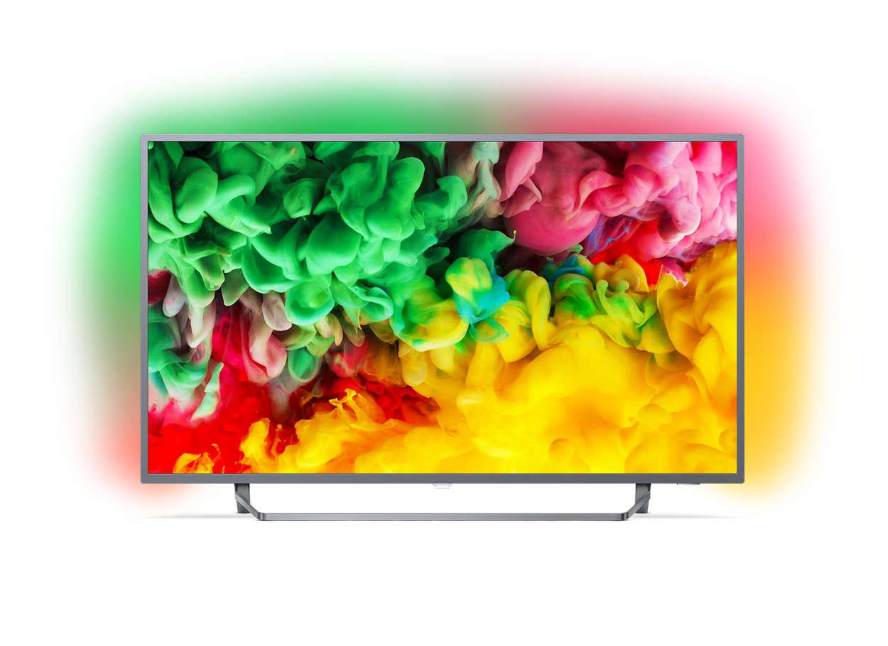 Ultraflacher 4K-UHD-LED-Smart TV
