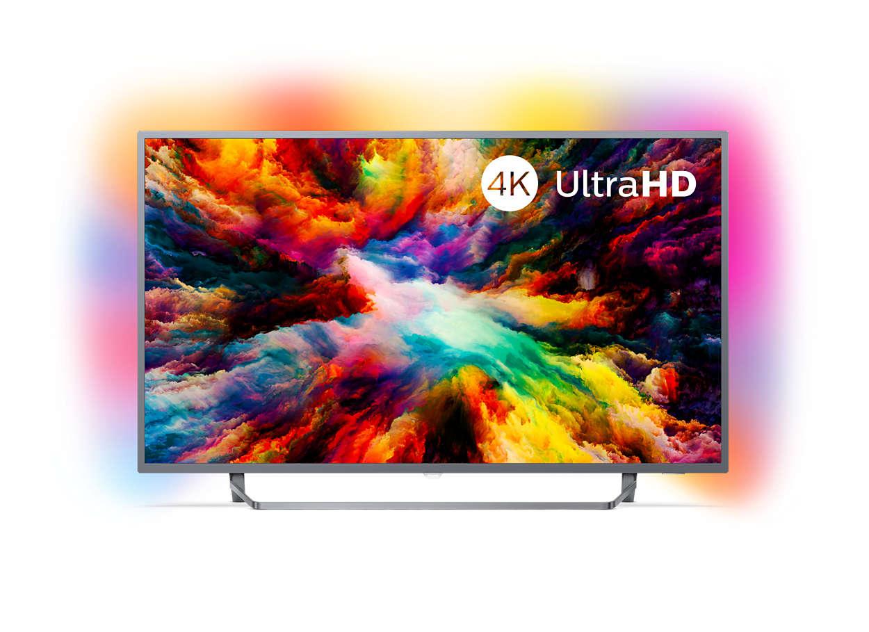 Εξαιρετικά λεπτή τηλεόραση Android 4K UHD LED