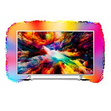65PUS7363/12  Ultraflacher 4K UHD-LED-Android-Fernseher