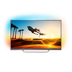 7000 series Ļoti plāns 4K televizors, darbina Android TV
