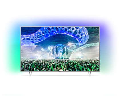Ultraflacher 4K UHD LEDTV powered by Android TV