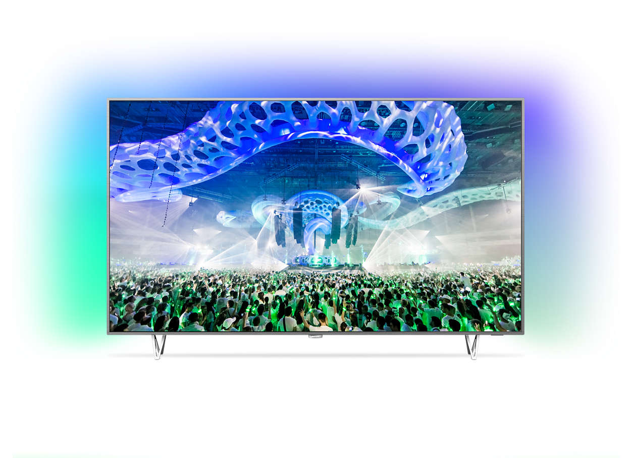 Slimmad LED-TV med 4K Ultra och Android TV