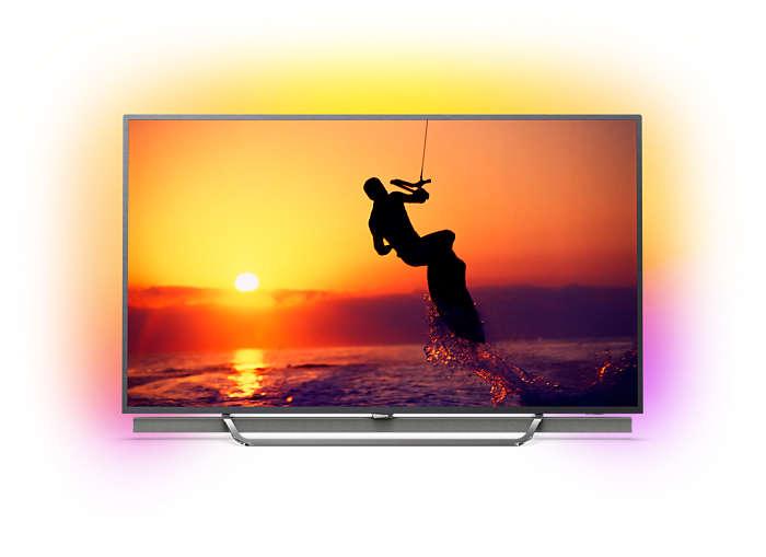 LED-TV med 4K Quantum som drivs av Android TV