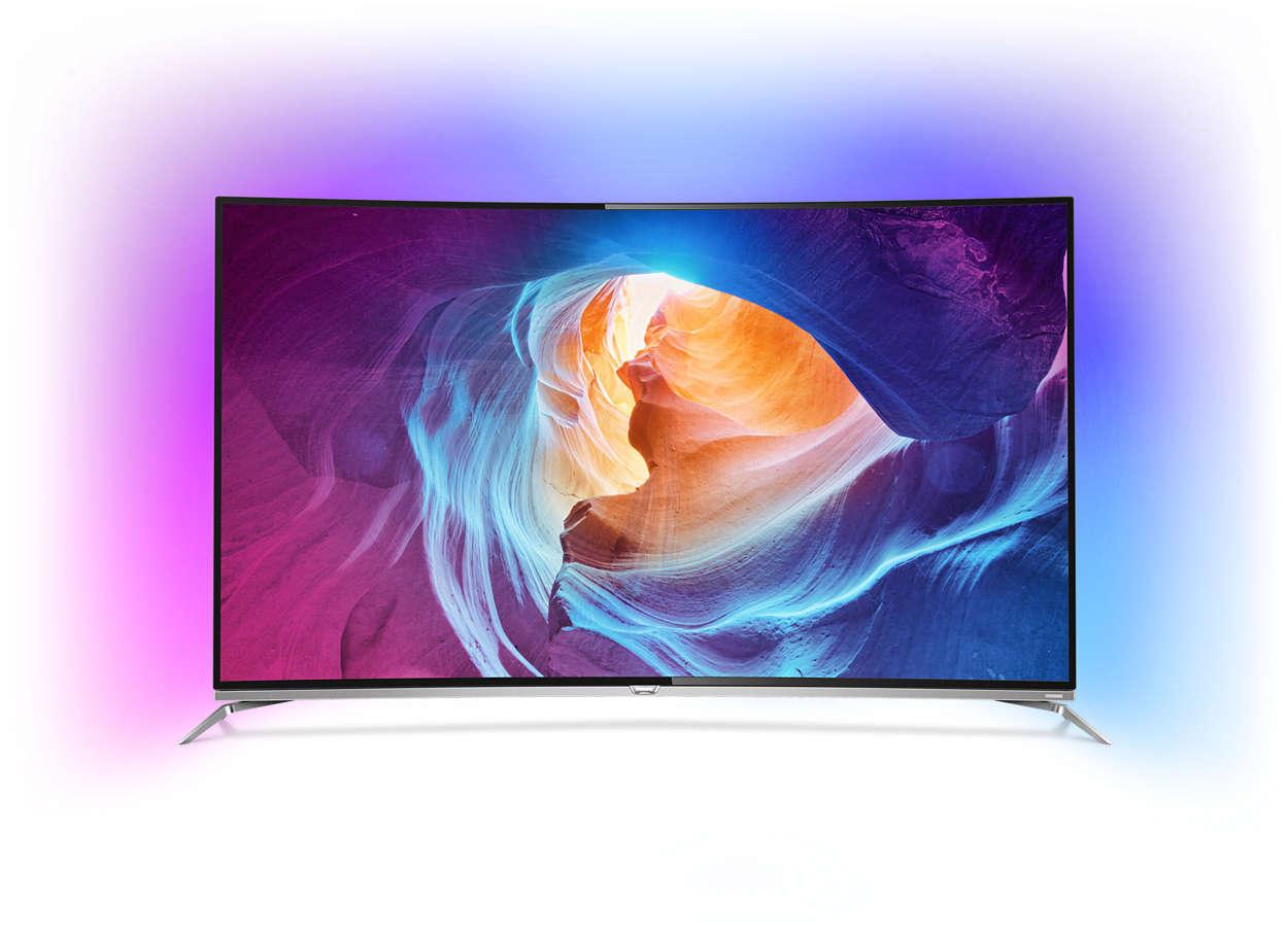 TV LED 4K curvo Android