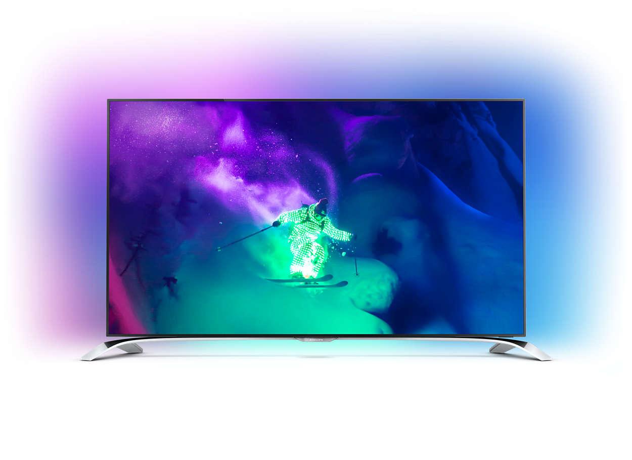 Изключително тънък 4K UHD телевизор, работещ с Android