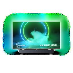 "9000 series 4K UHD ""Android"" televiz. – ""Bowers&Wilkins"" garsas"