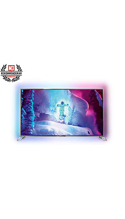 Ultratunn LED-TV med 4K UHD och Android