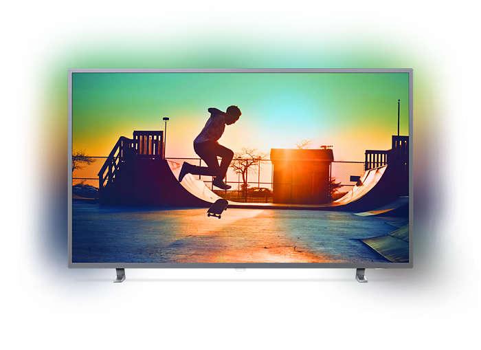 رفيع جدًا، 4K UHD، تلفزيون LED، Smart TV