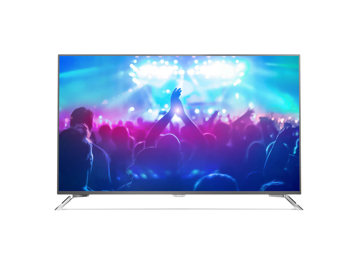 دقة 4K، شاشة رفيعة جدًا، تلفزيون LED مشغّل بواسطة Android TV