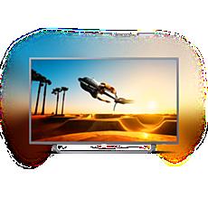 65PUT7303/56  دقة 4K، شاشة رفيعة، تلفزيون مشغّل بواسطة Android TV