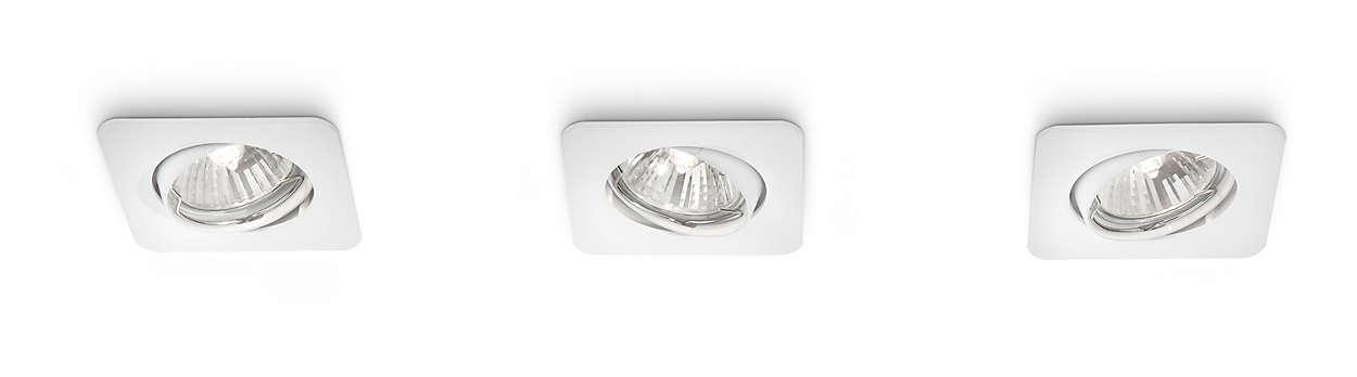 Framhäv hemmet med ljus