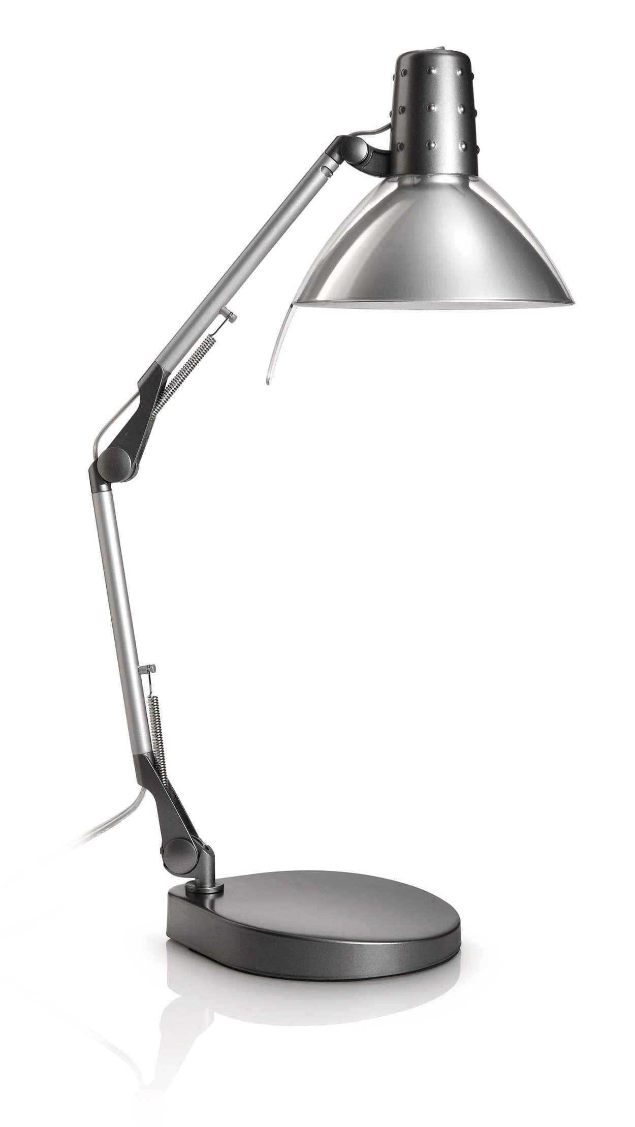 Sørg for godt lys til skrivebordet