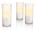 Set med 3 vita CandleLights