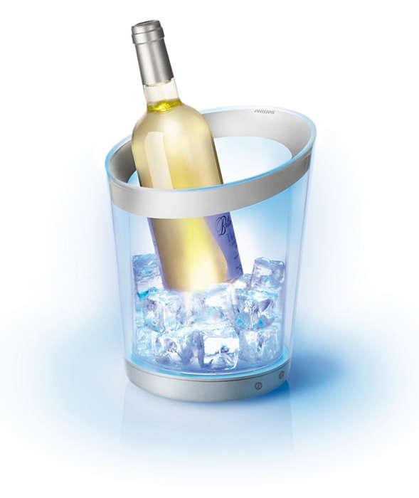 Chic in het ijs, feestelijk verlicht