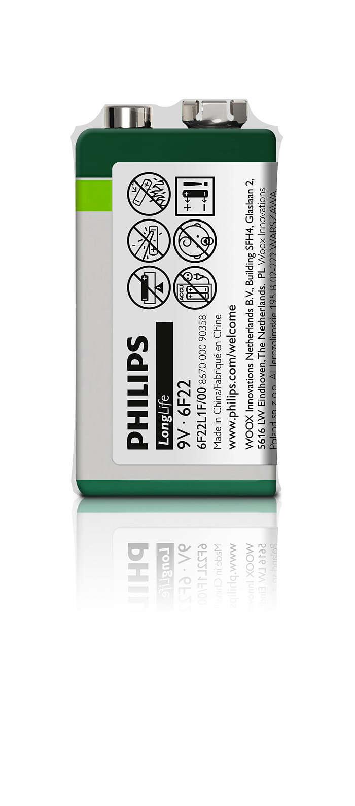 Högkvalitativa batterier för effektsnåla enheter
