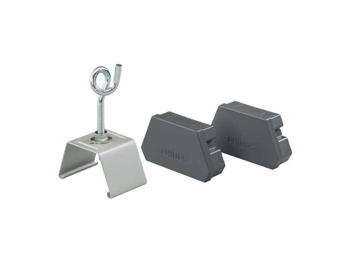Mounting bracket and hook, and two end-pieces