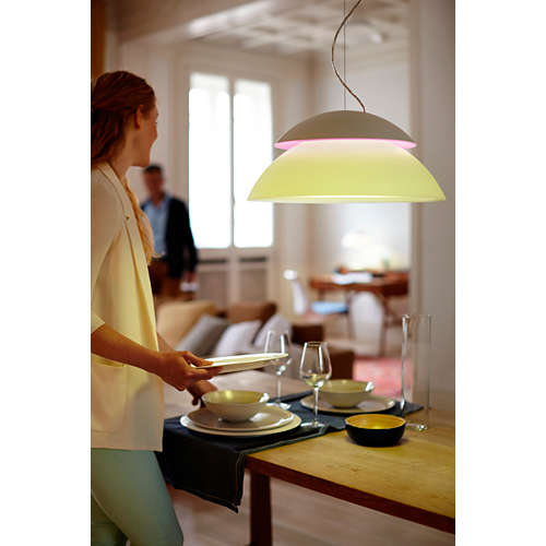 Hue White and color ambiance Beyond hanglamp
